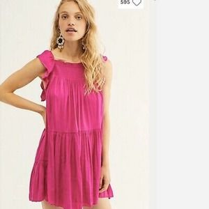 Free People Want Your Love Mini Dress Orchid Med